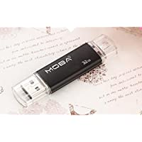 Aller 32GB Dual USB Flash Drive U Disk - Black