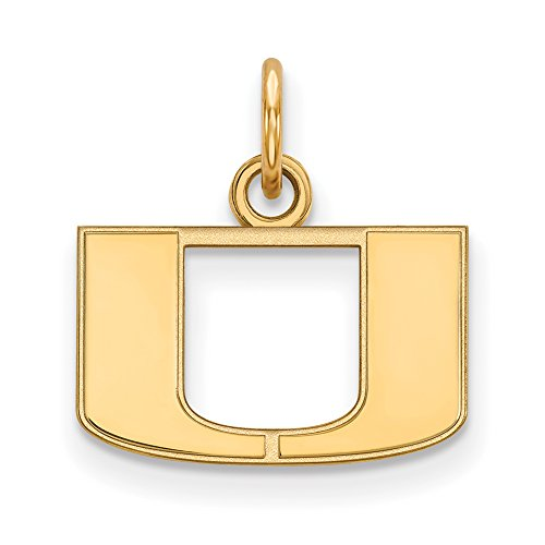 Miami Extra Small (3/8 Inch) Pendant (14k Yellow Gold) by LogoArt
