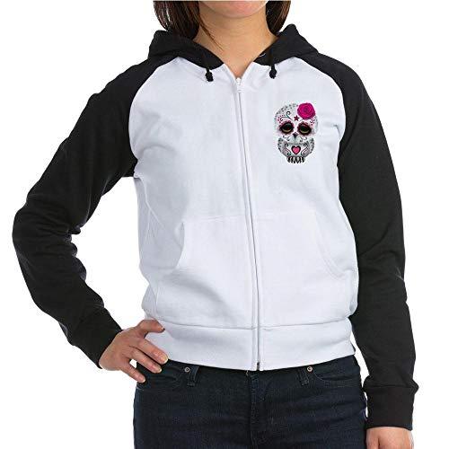 - CafePress Pink Day of The Dead Sugar Skull Owl Sweater Sweat Women's Raglan Hoodie