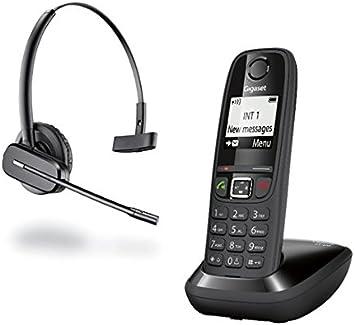Gigaset - Teléfono AS405 de color negro y auricular C565 Gap: Amazon.es: Electrónica