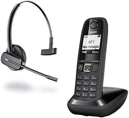 Gigaset - Teléfono AS405de color negro y auricular C565Gap