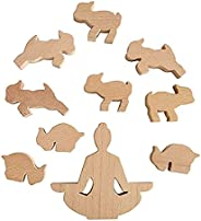Genuine Fred Goat Yoga Wooden Stacking Game