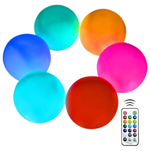 Flashing Floating - Aokely Flashing LED Ball Light, Floating Pool Lights 6pack Waterproof Mood Light Battery Operated 3.2