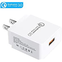 Quick Charge 3.0 Wall Charger, JAHMAI 18W QC 3.0 USB Portable Travel Adapter Fast Charging for Samsung Galaxy S7/S6, Note 5/4, LG V10/G4, HTC One A9/M9, Nexus 6 iPhone and More