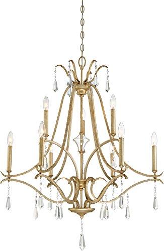 Minka Lavery Traditional Chandelier - Minka Lavery Crystal Chandelier Lighting 4449-582 Laurel Estate, 9-Light 540 Watts, Brio Gold