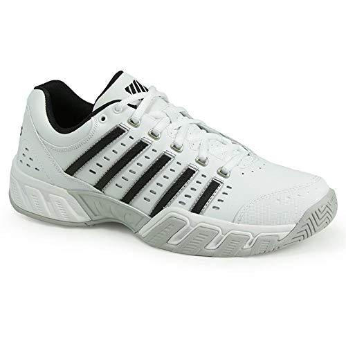 6bf0a5e01d976d K-Swiss Men's Bigshot Light Tennis Shoe, White/Black/Silver, 11 M US