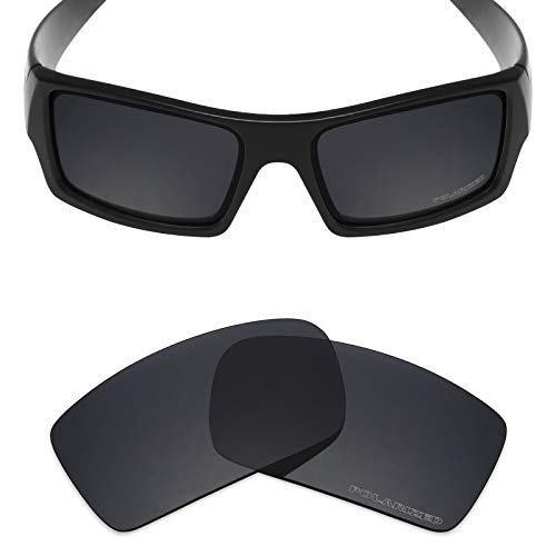 Stealth Polarized Mirror - Mryok+ Polarized Replacement Lenses for Oakley Gascan - Stealth Black