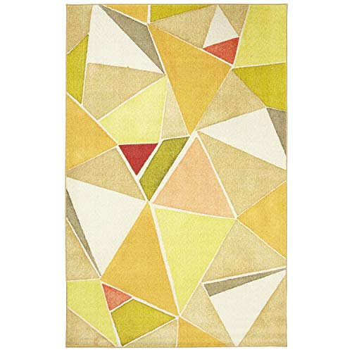 Mohawk Home Z0188 A432 096120 EC Prismatic Modern Angles Geometric Printed Contemporary Area Rug, 8'x10', Yellow
