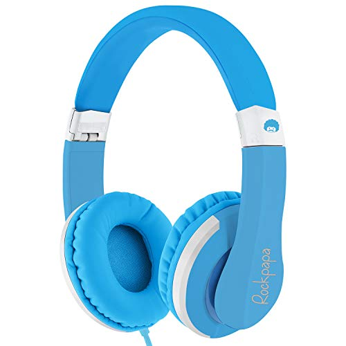 ROCKPAPA I22 Foldable Adjustable On Ear Headphones with Microphone for Kids/Adults, Laptop Tablet MP3/4 DVD Mobile in…