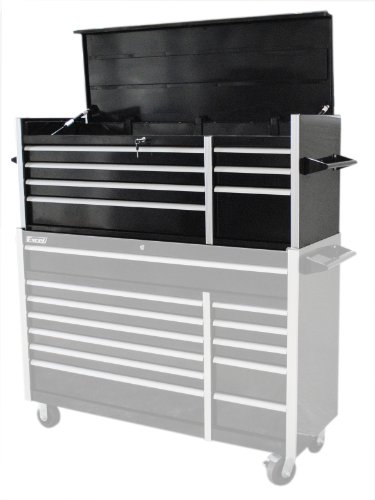 Excel TB5607A-Black 56-Inch Metal Tool Chest with 7 BBS Drawers - 56