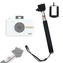 Perche / Selfie Stick télescopique DURAGADGET pour Fujifilm Instax Mini 50S, 70 et Hello Kitty, Polaroid Snap appareils photo instantané, avec support ajustable - Garantie 2 ans