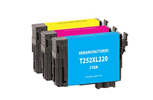 Inksters Remanufactured Ink Cartridges for Epson T252 - Cyan, Magenta, Yellow (3-Pack)