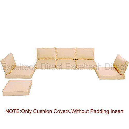 Do4U 11pcs 9002 Light Brown Sofa Cushion Cover Set