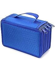 Alextreme 4 Layers Pencil Case Box Nylon Solid Color Zipped Shockproof Pen Pouch Bag Makeup Brush Storage Bag