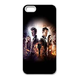 iPhone 5 5s Cell Phone Case White ac28 doctor who 50th poster film face FXS_552005