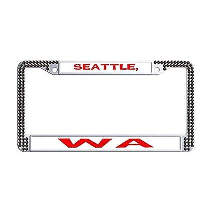 Amazon.com: Hensonata Diamond Bling Bling License Plate Frames ...