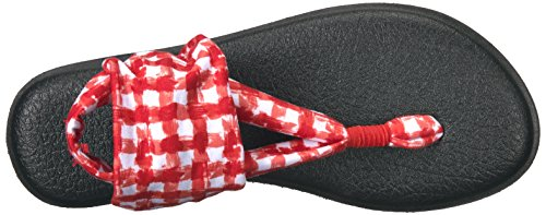White Gingham Yoga Sling 2 Sanuk Red Flip Flop Women's 48cz0c1O