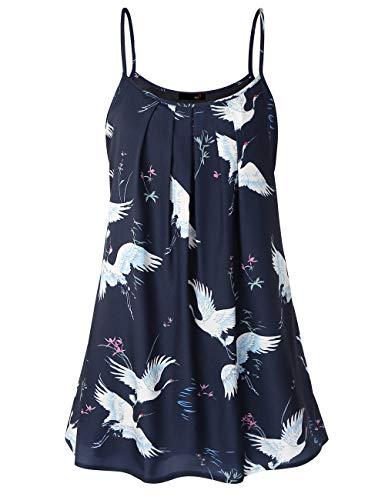Hawaiian Dresses for Women, DJT Women's Summer Dress Casual Sun Dress Sleeveless Beach Slip Dresses for Women Blue Floral #2 S