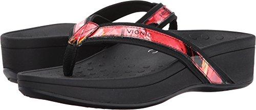 Vionic Women's High Tide Platform Sandal Black Floral 9 M by Vionic