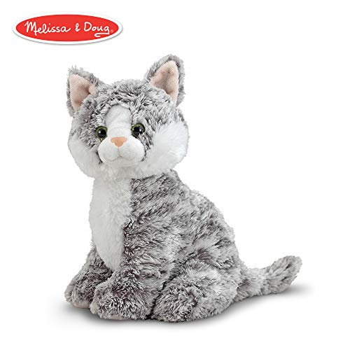 (Melissa & Doug Greycie Tabby Cat Stuffed Animal)