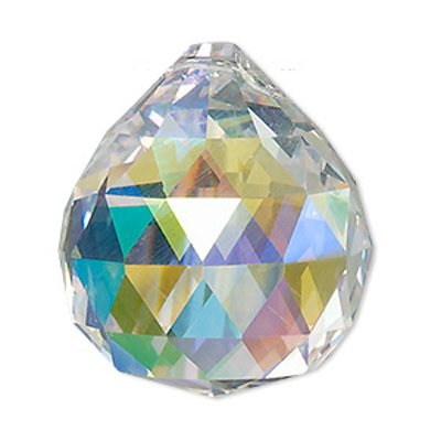 Set of 40-40 mm Clear AB Crystal Ball Prisms Asfour 30% Lead Crystal Ball Prism Crystal Chandelier Parts Wholesale Art# 701-40- 1 Hole by Asfour Crystal (Image #2)