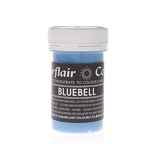 50 x Sugarflair BLUEBELL Pastel Edible Food Colouring Paste for Cake Icing 25g