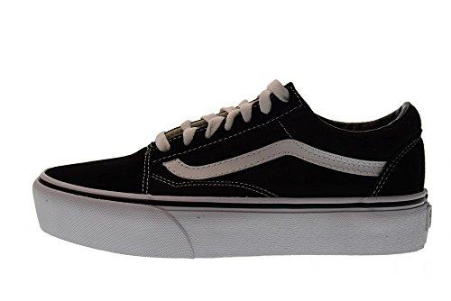 Skool Platform Nero 38 Basse 5 Sneakers bianco Vn0a3b3uy281 Vans Scarpe Donna Taglia Old nxY0wPf44q
