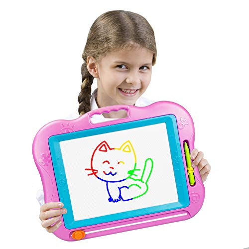 LOFEE Magna Doodle for Toddlers Girls Toys Age 2-7, Magnetic Doodle Board for Girls Birthday Present for 3-6 Year Old Girls 2-5 Year Old Girl Gifts Pink ()