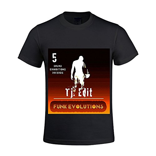 Funk Evolutions #5 TJ. EDIT Men Crew Neck Polo T Shirts For Men Black