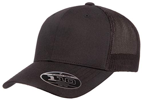 Flexfit Men's 110 Recycled Trucker Mesh, Black, ()