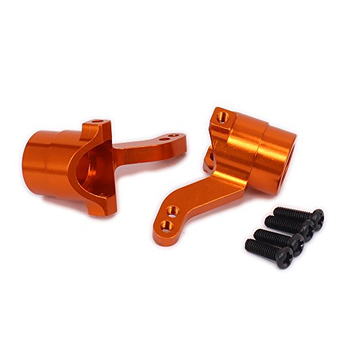 RCAWD Steering Hub Carrier Front Knuckle Aluminum Alloy for Rc Hobby car 1/10 HPI WR8 Series Flux 101208 2Pcs(Orange) ()