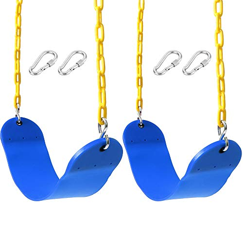 Best Price! Take Me Away 2 Pack Swings Seats Heavy Duty 66 Chain Plastic Coated - Playground Swing ...