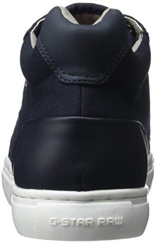 Mens G-star Raw Krosan Mid Fashion Sneaker Dark Navy