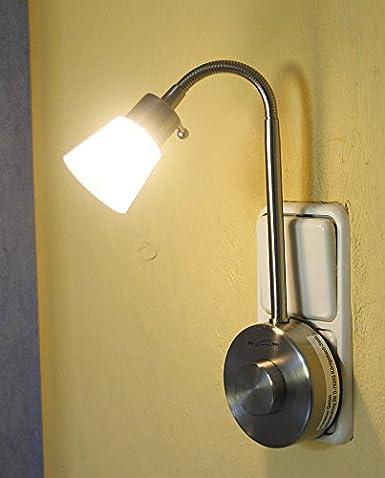 "Lámpara LED enchufe ""Almeria, 230 W, 2 W, blanco cálido"
