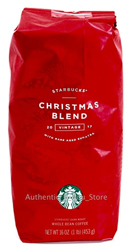 2017 Starbucks Christmas Blend Whole Bean Coffee - 1 pound bag