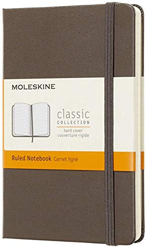 """Moleskine Classic Notebook, Hard Cover, Pocket (3.5"""" x 5.5"""") Ruled/Lined, Earth Brown, 192 Pages  """