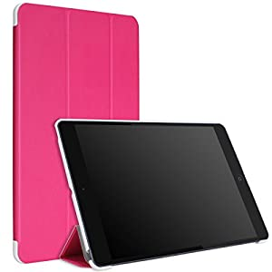 MoKo Apple iPad Air Case - Slim Lightweight Smart Shell Stand Case Cover for Apple iPad Air / iPad 5 9.7 Inch 2013 Tablet, MAGENTA (With Auto Wake / Sleep, Not fit iPad Air 2)