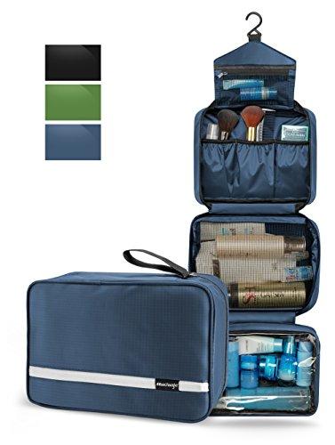Hanging Toiletry Bag, Maxchange Travel Toiletry Bag | Foldable Dopp Kit with Large Capacity for Men | 4 Layers Portable Waterproof Makeup Bag for Women | Travel Bathroom Organizer (Navy) - Mens Nb Zip