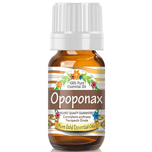 Opoponax Essential Oil (100% Pure, Natural, UNDILUTED) 10ml - Best Therapeutic Grade - Perfect for Your Aromatherapy Diffuser, Relaxation, More! (Opoponax Candle)