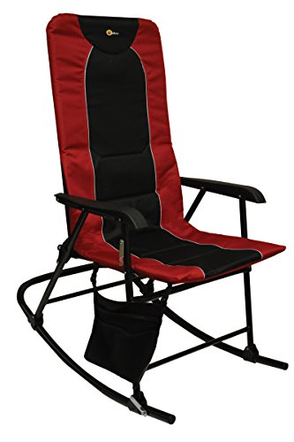 Faulkner 49596 Dakota Rocking Chair, Burgundy/Black