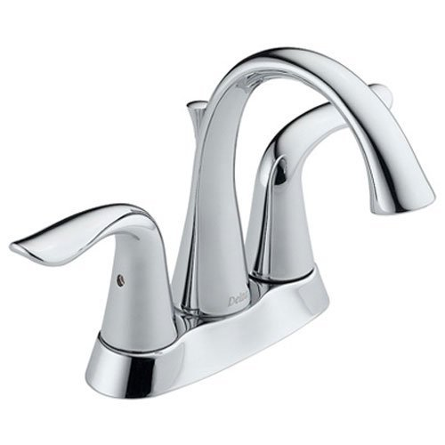 Delta 2538-MPU-DST Lahara Two Handle Centerset Lavatory Faucet, Chrome (Renewed) (Lahara Handle 2)