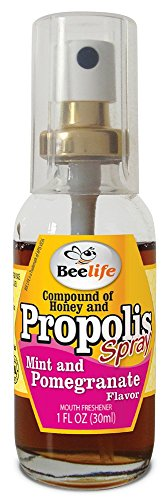 3 Pack - Spray Propolis with Honey, Mint and Pomegranate - 1 Fl Oz (30 Ml)