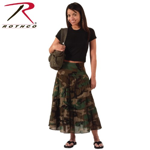 Rothco Women's Gauze Skirt, Woodland Camo, Large