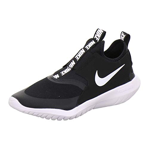 Nike Big Boy's Kid Flex Runner Running Shoes Black/White (6.5, Black/White)