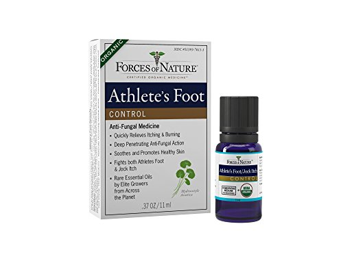 Forces of Nature - Natural, Organic Athlete's Foot Treatment (11ml) Non GMO, No Harmful Chemicals, Cruelty Free - Antifungal Relieves Burning, Itching, Cracking Caused by AF, Jock Itch and Ringworm