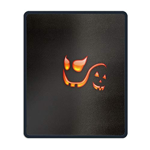 Natural Rubber Mouse Pad Printed with Holiday Halloween Smile Stitched Edges 8.66 x 7.08 -