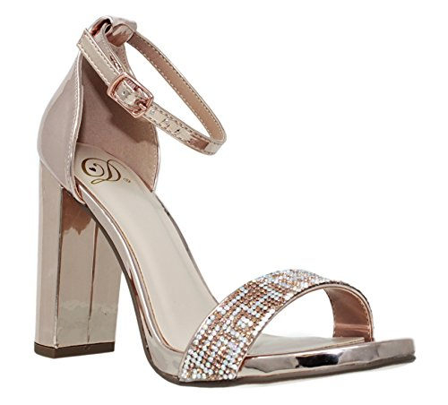 Ankle Women's MVE Shoes Heeled Penny Chunky Sandals Strap Fashion l UqUtx5