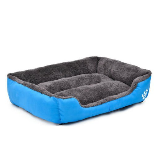YNshop Dog Bed Kennel Large Cat Pet Puppy Bed House Soft Warm , Blue
