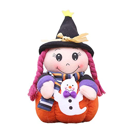 OYJJ Witch Doll Witch Doll Cute Brushed Doll Halloween Desktop Decoration Gift (Ghost Witch) ()