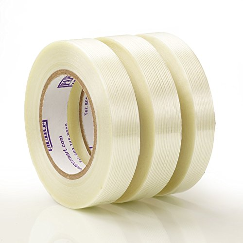 1'' X 60 Yards 36ea -Clear Pm Utility Filament Tape - 4.7 mil thick by Paper Mart